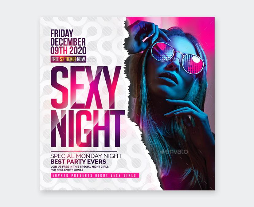 PSD Night Club Flyer Template
