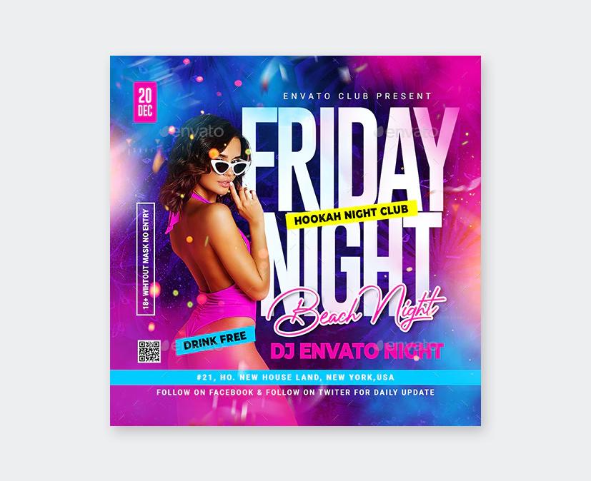 PSD Night Club Flyer