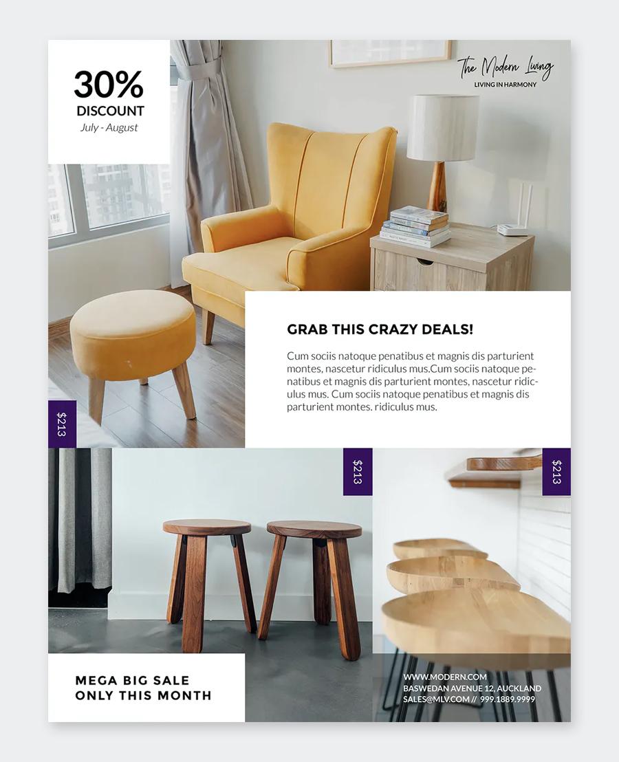Simple Furniture Flyer Design