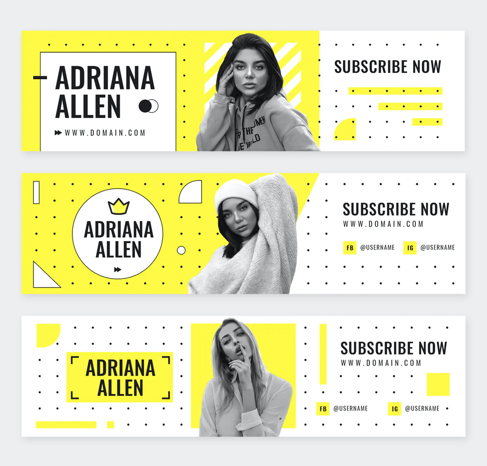 Simple Youtube Channel Art Templates