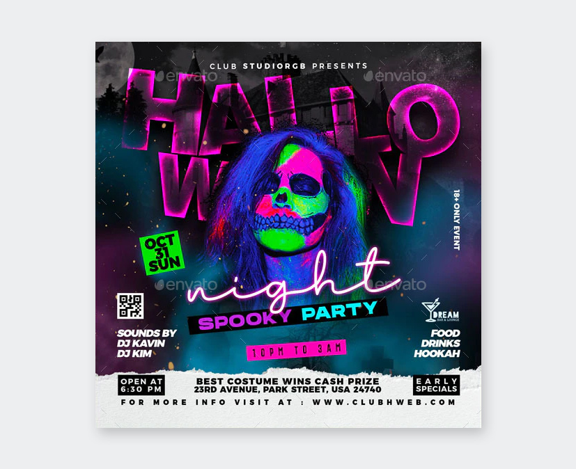 Spooky Party Flyer Template