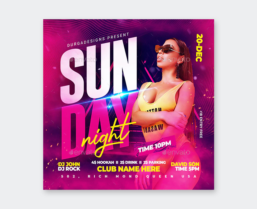 Sunday Party Flyer Design