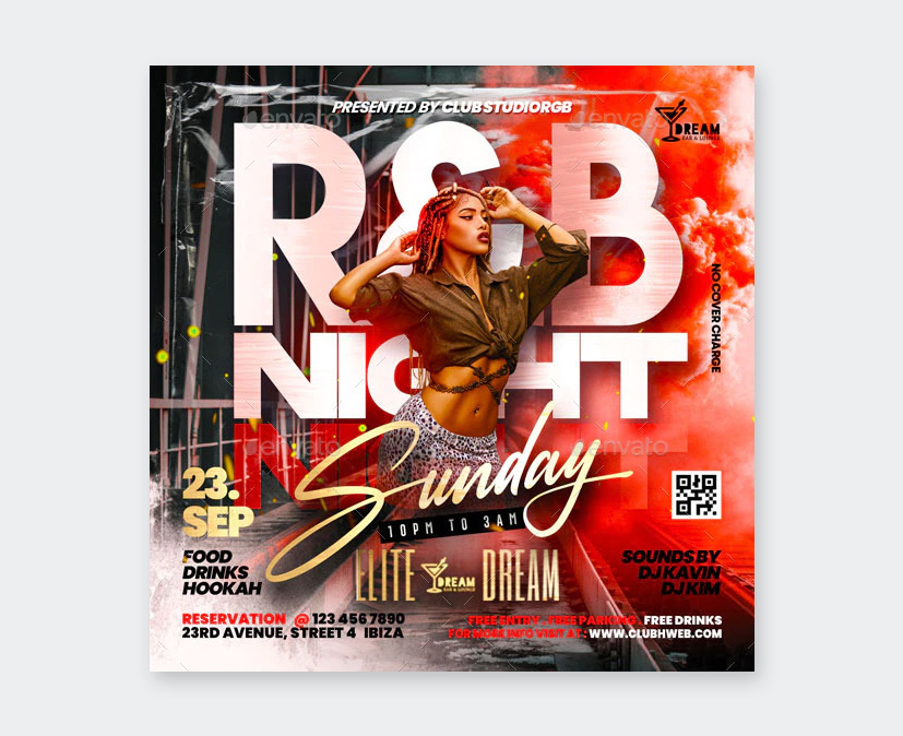 Sunday Party Flyer Template