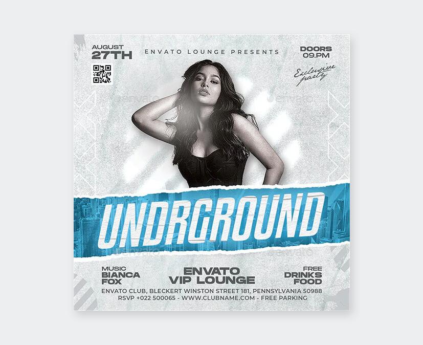 Underground DJ Club Flyer