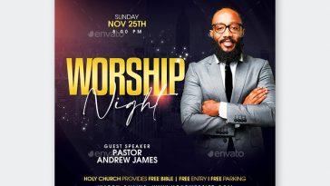 Worship Night Flyer Template