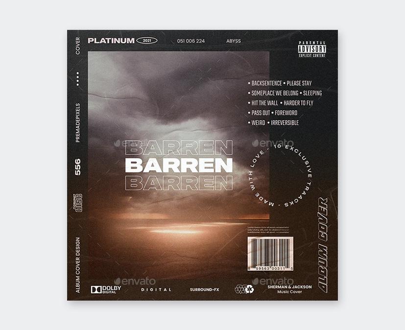 Album Cover Art Template