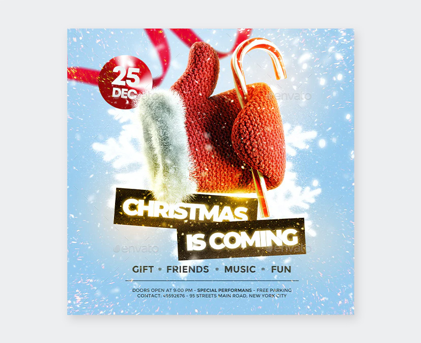 Christmas Holiday Flyer PSD