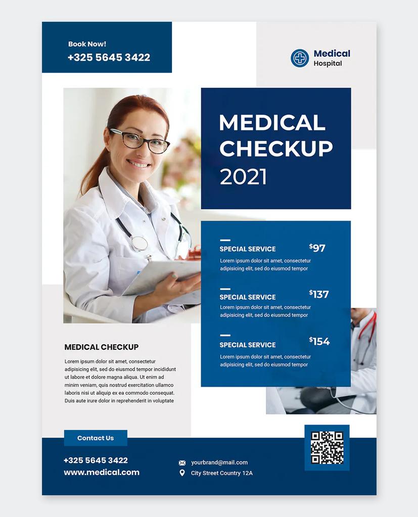 Clean Medical Flyer Design