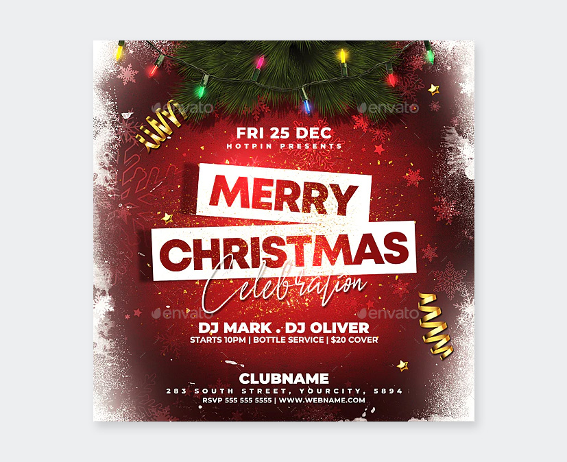 Creative Christmas Party Flyer