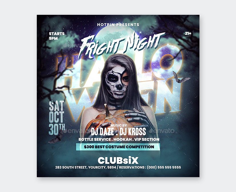 Fright Night Party Flyer