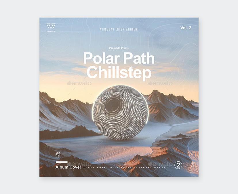 Futuristic Album Cover Art Template