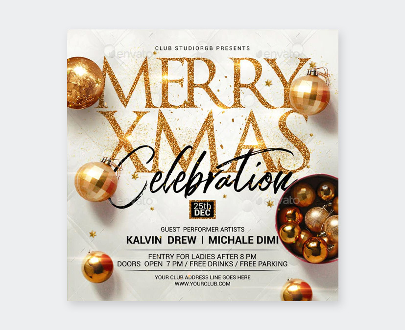 Gold Christmas Flyer