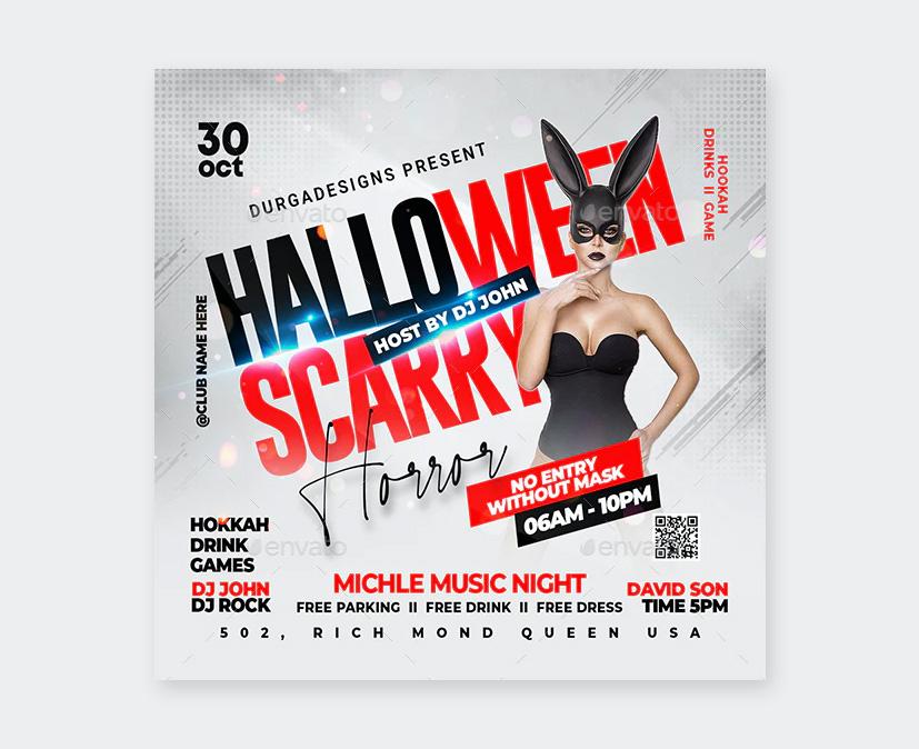 Halloween Nightclub Party Flyer