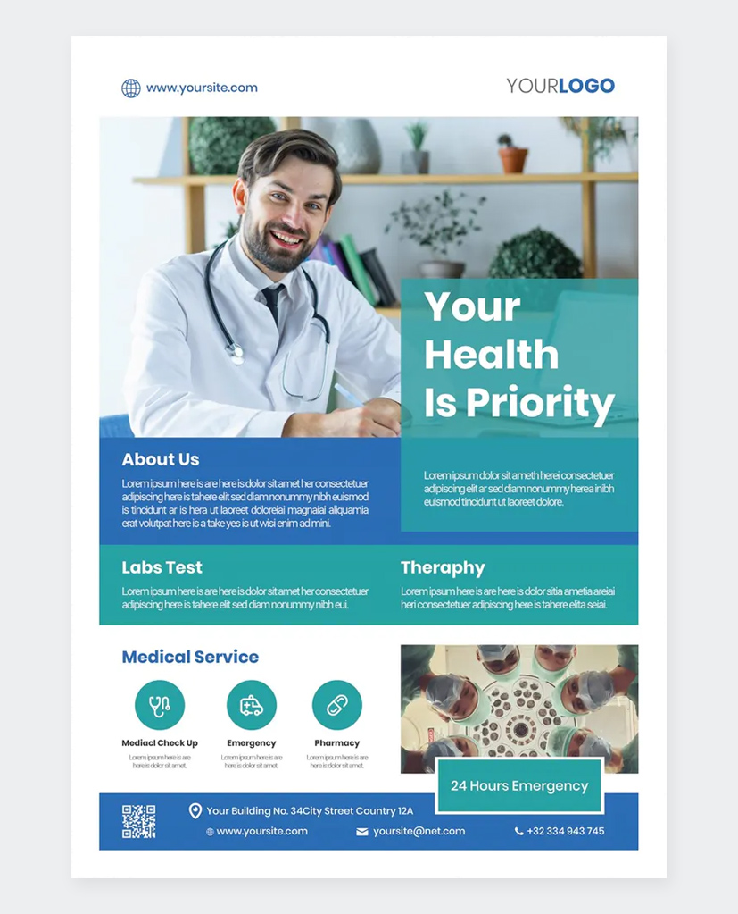 Medical Promotion Flyer Template