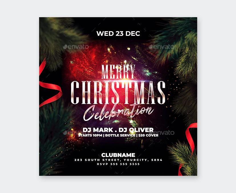 Modern Christmas Flyer Design