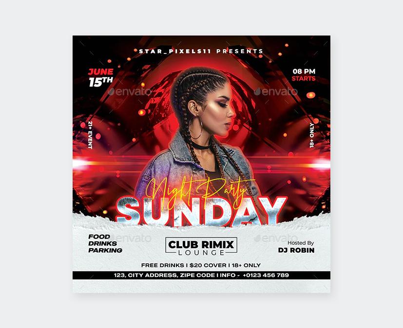 Night Club Flyer Design