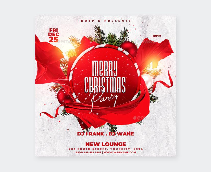 PSD Christmas Flyer Design