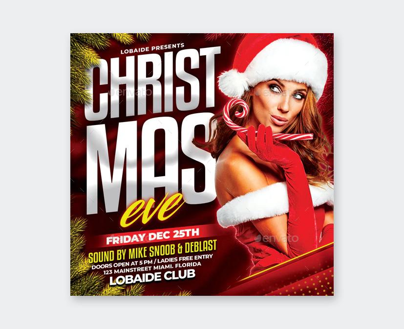 Template Christmas Flyer