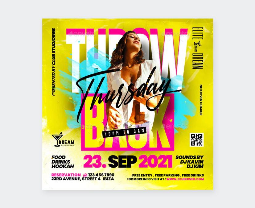 Thursday Nightclub Flyer PSD