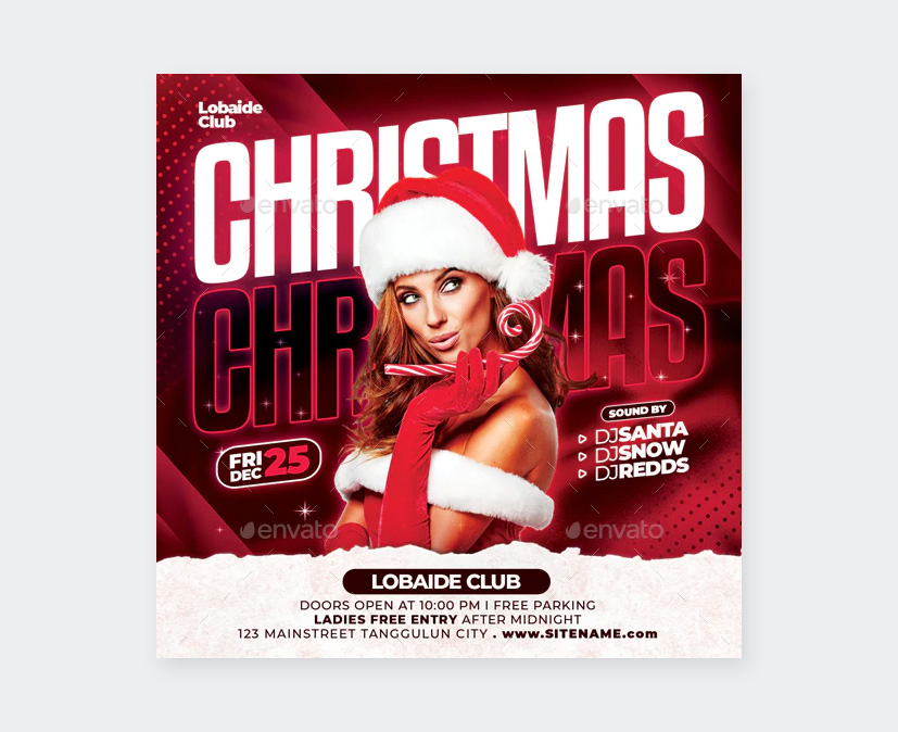 Xmas Party Flyer Design